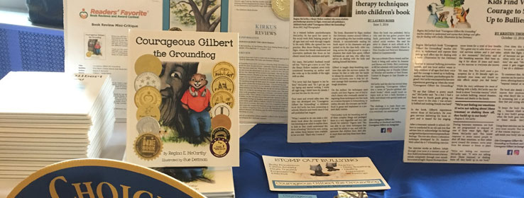 Courageous Gilbert the Groundhog Book Display